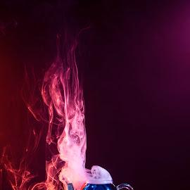 tea on fire by Andreea Muntean - Artistic Objects Still Life ( artistic objects, tea, smoke, fire, colors )