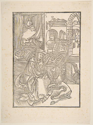 Saint Jerome Extracting a Thorn from the Lion's Foot, Lyons, 1508 (copy)