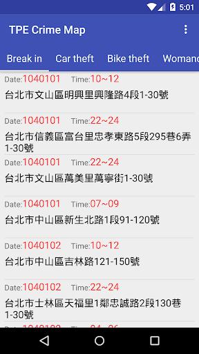 台北犯罪案件地圖