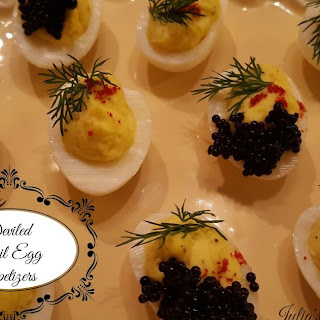 Deviled Quail Egg Appetizers