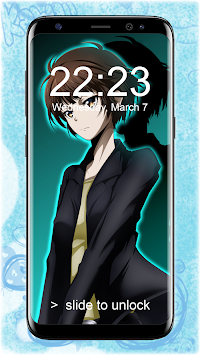 Akane Tsunemori Pattern Anime Lockscreen Wallpaper Poster