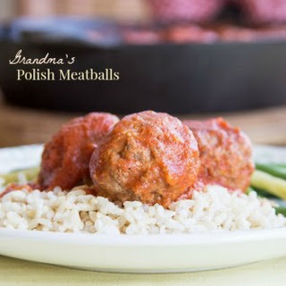 Grandma's Polish Meatballs for #SundaySupper