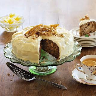 Kumara, Pineapple & Walnut Cake with Almond Praline