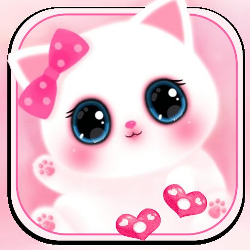 Pink Cute Kitty 3d Live Lock Screen Wallpapers אפליקציות ב Google Play