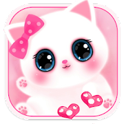 Pink Cute Kitty 3D Live Lock Screen Wallpapers