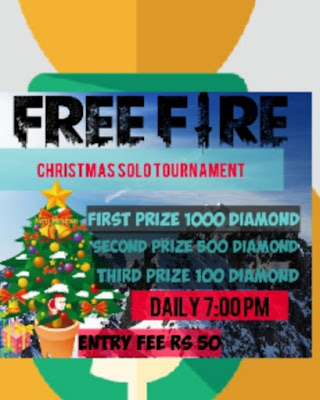 Free Fire Tournament Christmas Tournament First Prize 700 Diamond Second Prize 350 Diamond Third Prize 70 Diamond Free Entry Login From Given Link Contact Us For More Information