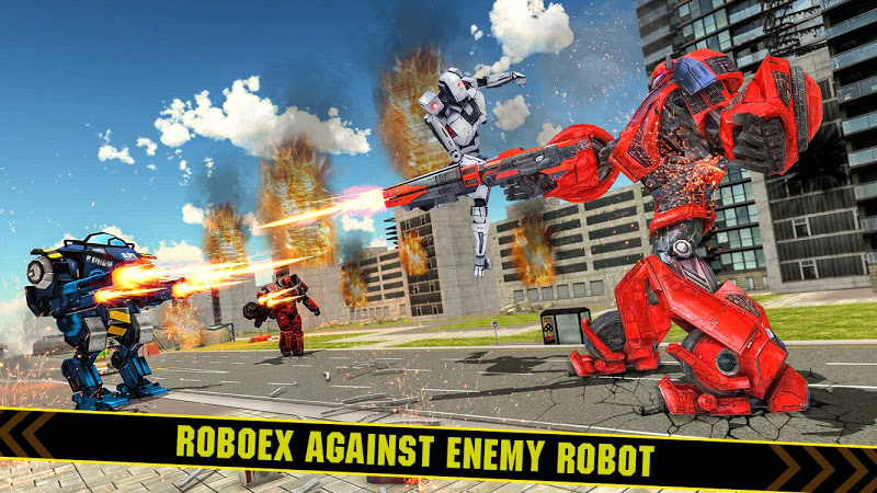 Скриншот тяжелый Экскаватор робот преобразование Игра