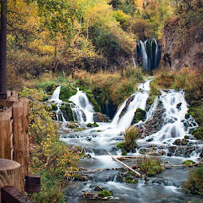 Fall by Angelica Less - Landscapes Waterscapes ( autumn, waterfall, fall, south dakota, landscape,  )