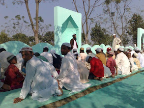 Photo: Eid prayer in a village jamayet in Atwari, Panchagarh
