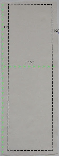 Photo: Pattern for muslin to sew sachet