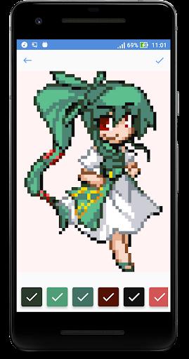 Anime & Manga Color by Number - Cute Pixel Art 1.2 screenshots 1