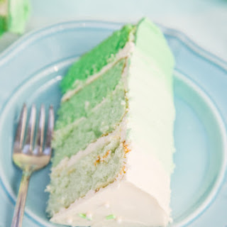 Green Ombre Cake.