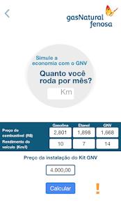 Simulador GNV - náhled