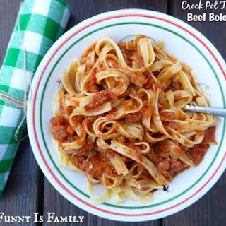 Crock Pot Beef Bolognese