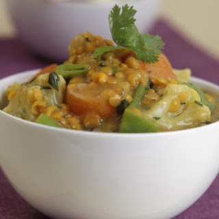 Indian Cauliflower and Lentil Dhal.
