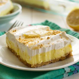 Lemon Cheesecake Pudding Dessert.