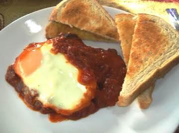 """Steak & eggs in Purgatory """"is deliziosa!!!"""""""