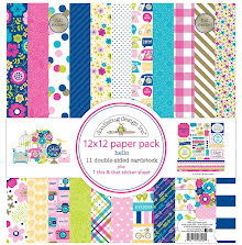 Doodlebug Double-Sided Paper Pack 12X12 12/Pkg - Hello