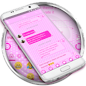 SMS Messages Valentine Love Pink Theme