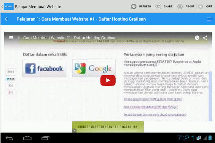 android Belajar Membuat Website Screenshot 1