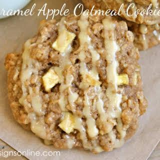 Caramel Apple Oatmeal Cookies.