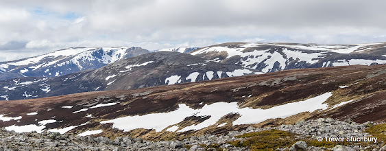 Photo: Beinn a Bhuird and Ben Avon from East Top of Carn Liath