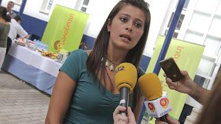 La diputada provincial de Deportes, Ángeles Martínez.