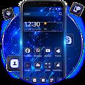 Black blue tech Theme icon