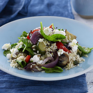 Brown Rice, Roasted Vegetable and Goat Cheese Salad