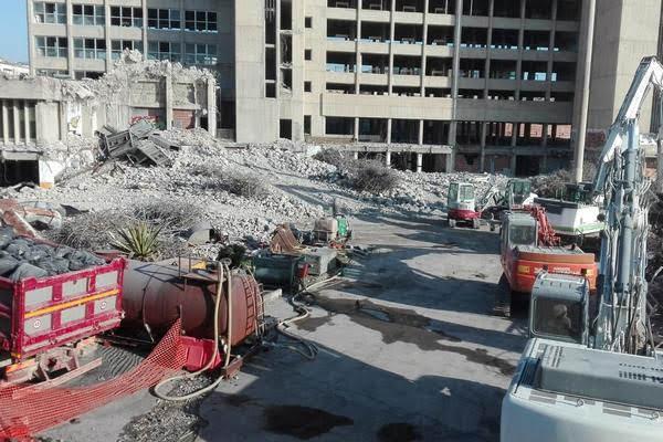 Demolizione Palazzo delle Poste