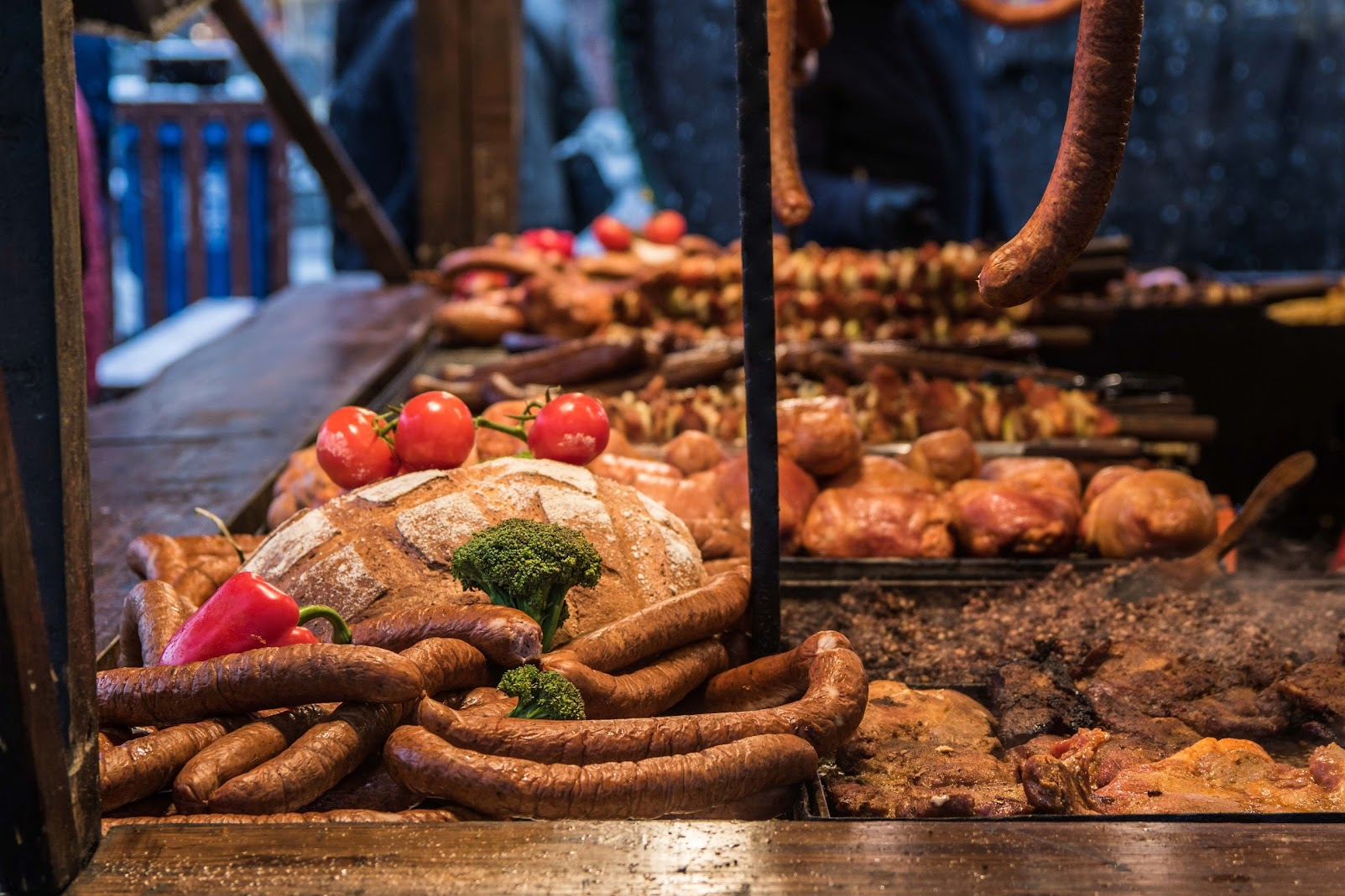 christmas market food in krakow