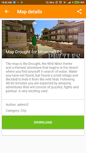Drought adventure map for MCPE - náhled
