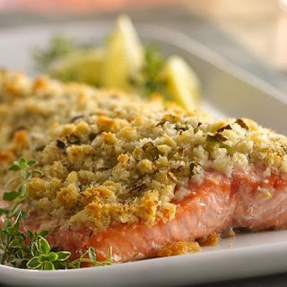Lemon- and Parmesan-Crusted Salmon.