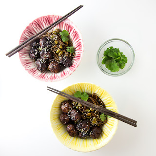 Sticky Sesame and Ginger Pork Meatballs