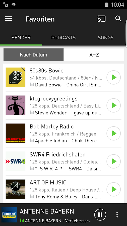 radio.de - Der Radioplayer – Screenshot
