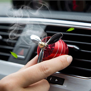Set 2 x Odorizant auto tip ventilator cu lumini pentru grila