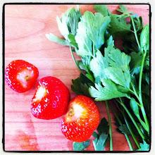 Photo: Strawberries & #parsley #intercer #fruits #veggie #strawberry - via Instagram, http://instagr.am/p/LfOo57pfrL/
