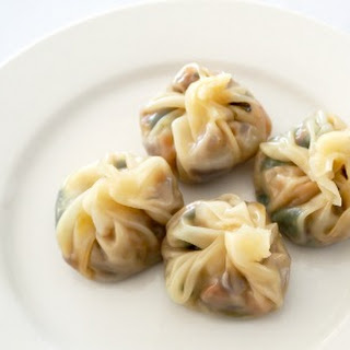 Steamed Vegetable Dumplings.