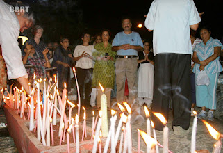 Photo: Waheeda Rehman lighting candles and St Andrew Church Priest conducting Prayers