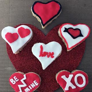 Valentine's Day Heart-Shaped Rice Krispies Treats.