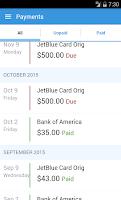 Screenshot of ReadyForZero: Pay Off Debt