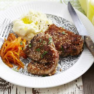 Sesame Lamb Chops and Honey Glazed Carrots.