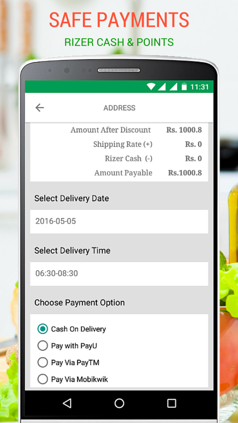 rizekart - online grocery- screenshot