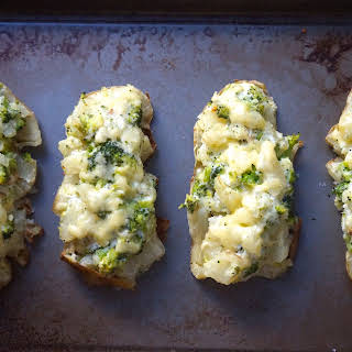 Broccoli Cheddar Twice Baked Potatoes with Greek Yogurt (inspired by this recipe).
