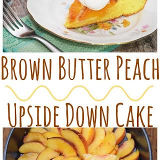 Brown Butter Peach Upside Down Cake