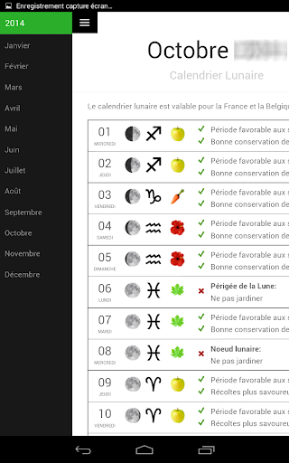 Download calendrier lunaire for pc for Calendrier lunaire jardin