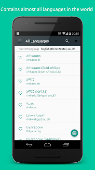 Locale and Language Setting