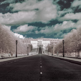 Stormont belfast by Danny Charge - Buildings & Architecture Public & Historical ( city, road, ir, roads, infrared, landscape )