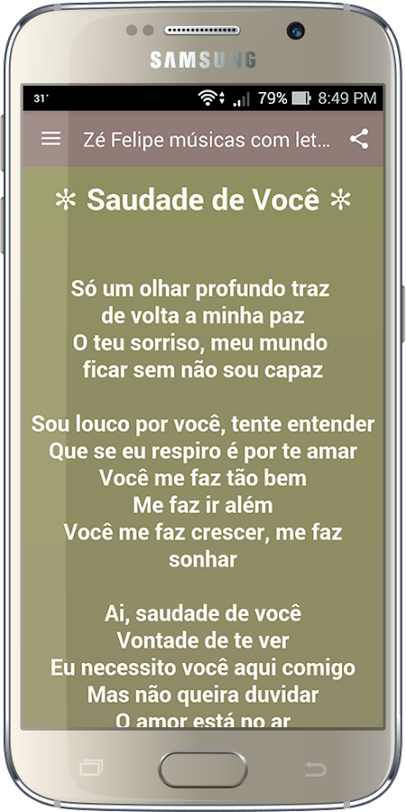 Screenshots of Zé Felipe músicas com letras for iPhone