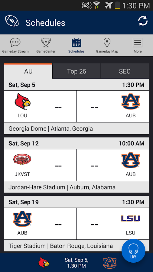 Auburn Tigers Gameday- screenshot